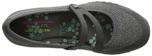 Mujer para Merceditas Skechers Breathe Gray Easy Knit Lucky Trim Charcoal Lady Mesh xwqYXqB