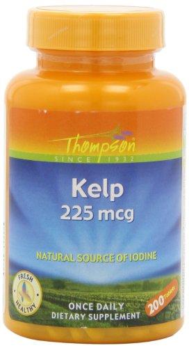 Thompson Kelp Tablets, 225 Mcg, 200 Count (Pack of 2) (Kelp Thompson)