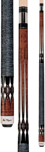 Players G-2252 Graphic Umber Birds-Eye Maple with Imitation Mother of Pearl and White Diamonds Cue, 19.5-Ounce