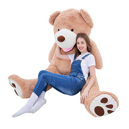 7ft Teddy Bear (IKASA Giant Teddy Bear Plush Toy Stuffed Animals 6.5 Foot (Brown, 78)