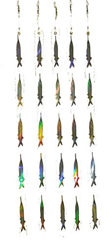 Pack of 5 ballyhoo teaser strips with 5 ballyhoo on each strip (Fishing Teaser)