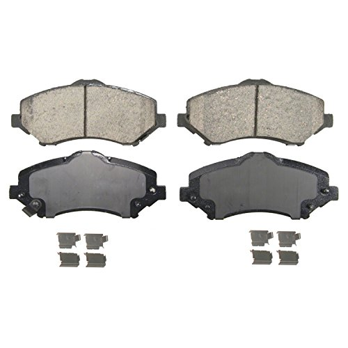 Wagner QuickStop ZD1273 Ceramic Disc Pad Set Includes Pad Installation Hardware, (Jeep Liberty Brake Pads)