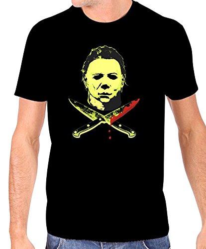 (Halloween 2 Men's Michael Myers Glow in The Dark T-Shirt S)