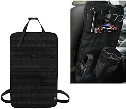 Gocher Molle Car Seat Organizer Fahrzeugsitzlehne Lagerung Abdeckung Mat Protector- BK