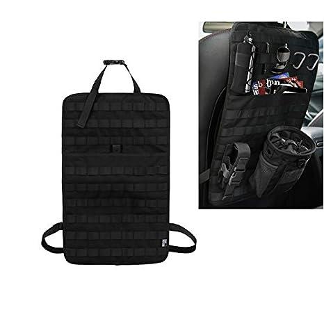 Airsoft Paintball Tempor/äre bewaffnete Garage Universal Storage Seat Cover Taktische MOLLE-Panel-Autositz-R/ücken-Aufbewahrungstasche mit Flasche//Taschenlampe//Recycling-Tasche