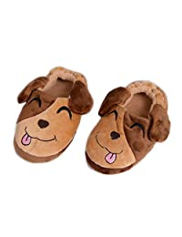 Csfry Toddler Boys' Slippers Cartoon Warm House Shoes