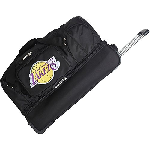 DENCO LOS ANGELES LAKERS 27'' 2-WHEELED DROP BOTTOM DUFFEL by Denco Luggage 1048749