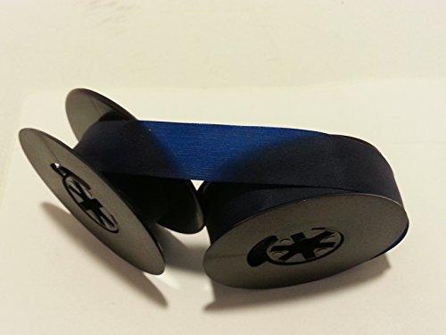 Universal Typewriter Ribbon - 1/2 Inch Blue Ink Twin Spool Fresh and New Fabric Ribbon ()