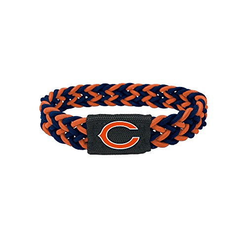 Chicago Bears Bracelet Braided Navy and Orange by aminco