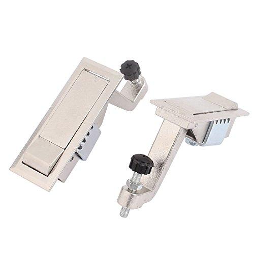uxcell 2 Pcs Push Button Pop Up Type Panel Lock Lockset for Distribution Box