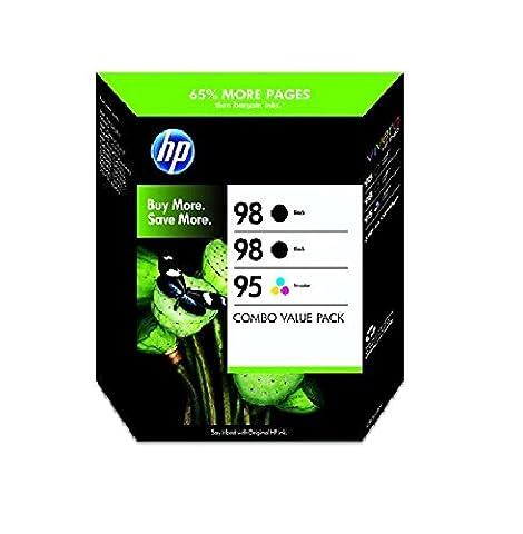 HP CB312BN 98 Black and 95 Tricolor Inkjet Cartridge Combo Pack , (CB312BN) (95 98 Hp Ink Cartridge)