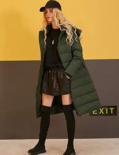 Verde De Sack Acolchada Mujer Larga Con Invierno Chaqueta Elf Capucha Y WvZgw8xqZH
