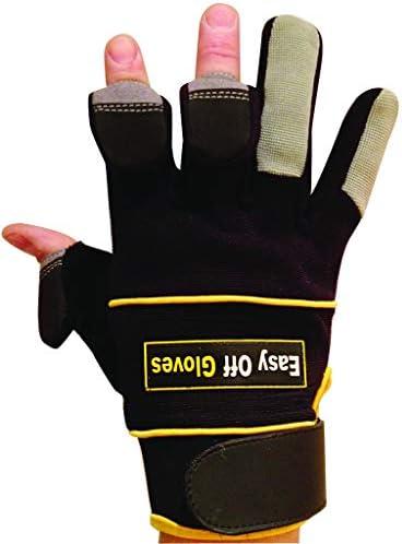 Skifahren und Fotografieren Fingerspitzen Easy Off Gloves Handschuhe zum Angeln Zur/ückgeklappter Magnet