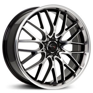 (Drifz Vortex 18x8 Machined Black Wheel / Rim 5x100 & 5x4.5 with a 35mm Offset and a 73.00 Hub Bore. Partnumber 302MB-8801835)