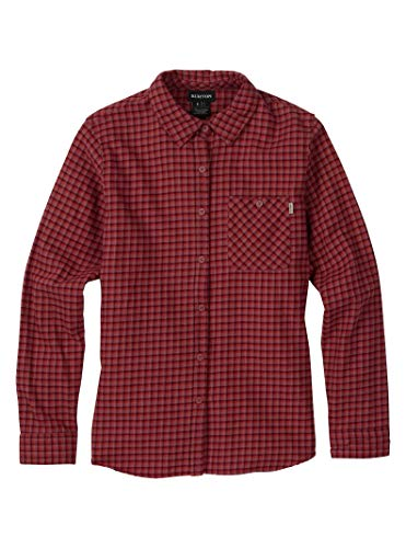 - Burton Women's Grace Long Sleeve Woven Shirt, Rose Brown Sunset Plaid, X-Large