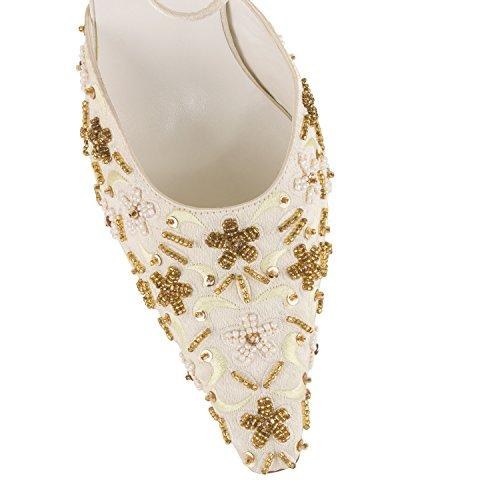 FARFALLA - Zapatos con correa de tobillo mujer Hueso - marfil