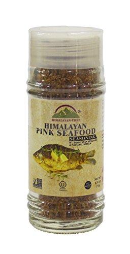 (Himalayan Chef Pink Seafood Seasoning Shaker, 2.75 Ounce, 100% Natural pink salt )