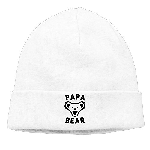 Funny Papa Bear Best Dad Ever Mascot Happy Beanie Hat Knit Hat Skull Cap Beanie