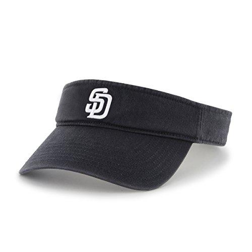 ('47 MLB San Diego Padres Clean Up Adjustable Visor, One Size, Navy)