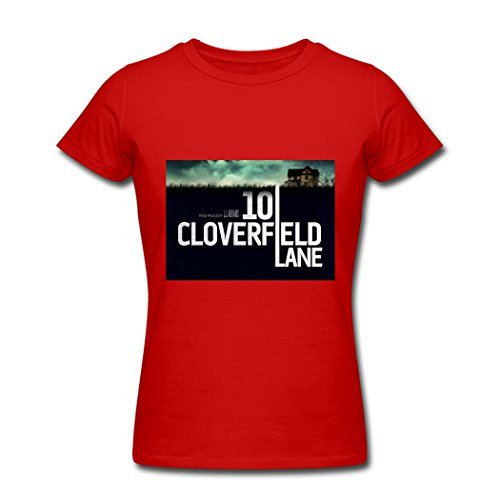TOGEB 10 Cloverfield Lane poster Lady Short T-shirt women Tee Red L