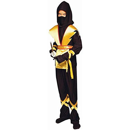 RG Costumes Ninja Master Costume, Black/Yellow, Medium (Yellow Ninja Kids Costumes)