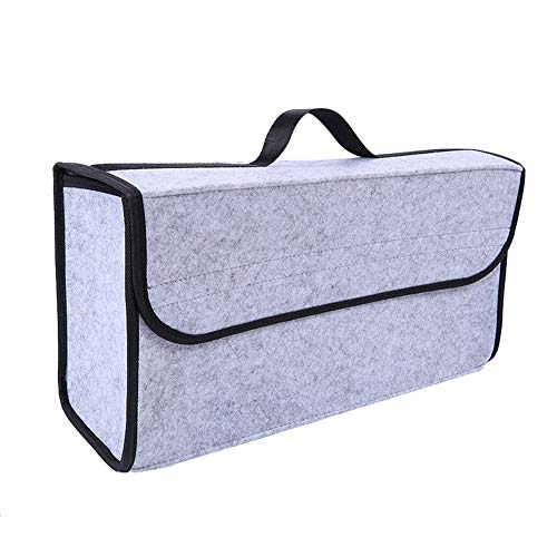 SqsYqz Car Storage Box Trunk Storage Box Interior Supplies Multi-Function Tail Box Car Storage Box Car Storage Box,LightGray