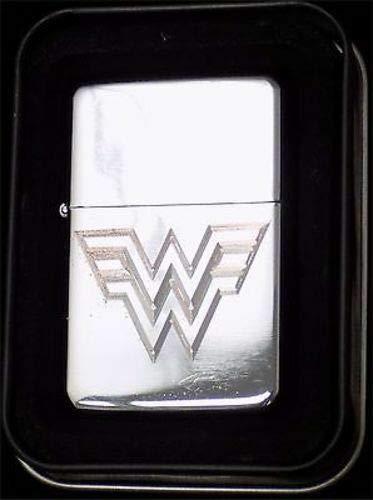 Zippo Favors (Wonder Woman Logo Engraved Chrome Cigarette Lighter Wedding Favor Gift LEN-0043)