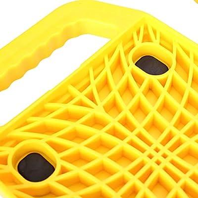 Homeon Wheels RV Jack Pads Camper Chock Blocks Trailer Leveling Jack Stabilizer Help Prevent Jacks from Sinking, 6.85
