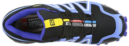 SalomonSpeedcross 3 Gtx - Zapatillas de running mujer Black/Petunia Blue/Spectrum Blue