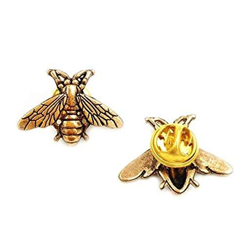 Joomsy Vintage Male Metal Bees Shirt Brooch Designer Bee Brooch Pins