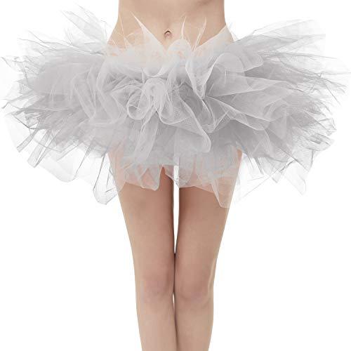 Topdress Layered Tulle Tutu Skirts Silver Regular Sizing -