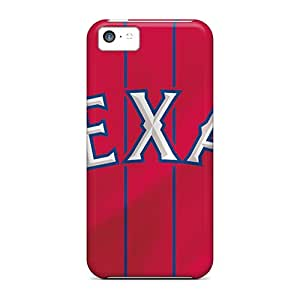 Iphone 5c Vjc19573TzGn Customized Trendy Texas Rangers Image Durable Hard Phone Cover -LauraFuchs