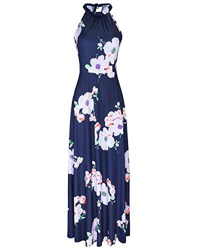 STYLEWORD Women's Off Shoulder Elegant Maxi Long Dress(Floral04,XL) ()