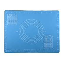 Non-stick Silicone Baking Mat Large Massive Dough Pastry Fondant Rolling Mat 15.7 x 19.7 inches, Blue