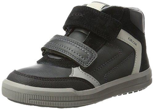 Geox Arzach B, Zapatillas Altas Para Niños Gris (Dk Grey/black)