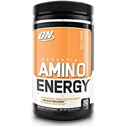 Optimum Nutrition Amino Energy with Green Tea and Green Coffee Extract, Flavor: Peach Lemonade, 30 Servings