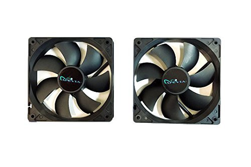 Black Case Fan - Apevia AF212S-BK 120mm 4pin & 3pin Silent Black Case Fan (2-pk)