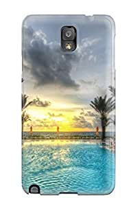 Awesome Design R Tropical Pool Hard Case Cover For Galaxy Note 3