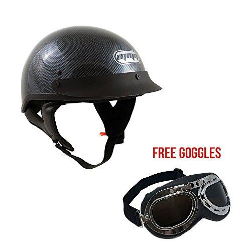 Carbon Fiber Half Motorcycle Helmets - 1