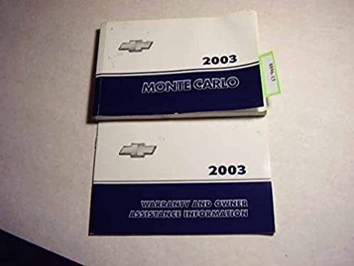 2003 chevrolet monte carlo owners manual chevrolet amazon com books rh amazon com 2003 chevy monte carlo owners manual 2004 Chevrolet Monte Carlo
