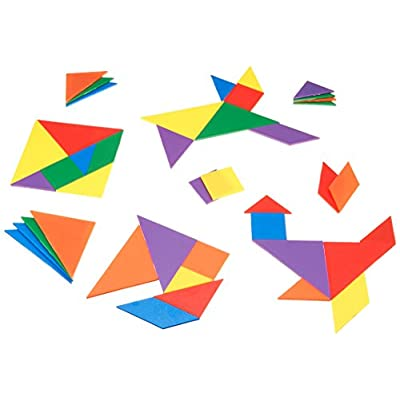 Learning Resources Ler 3668 Set Di Tangram 42 Pz 6 Colori Assortiti