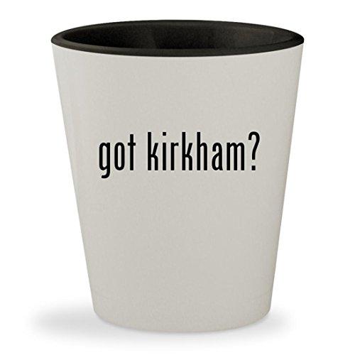 got kirkham? - White Outer & Black Inner Ceramic 1.5oz Shot Glass (Kirkham Outdoor Products)