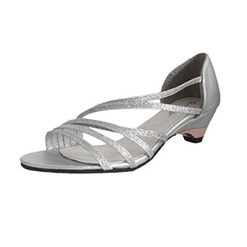 Sandalias para Mujer, RETUROM Zapatos bajos de la playa del verano de las cuñas de las mujeres vendedoras calientes Plata