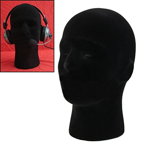 LIAMTU Male Wigs Display Mannequin Head Stand Model HTC Vive VR Headsets Mount Styrofoam Foam -