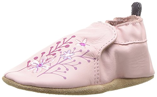 Robeez Girls' Soft Soles Baby Crib Shoe Blooming Floral Light Pink 0-6 Months M US