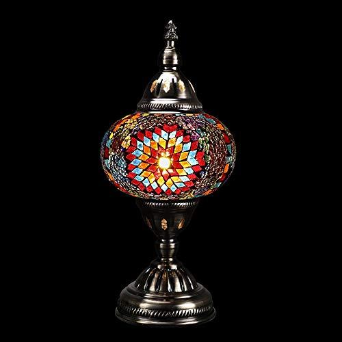 Handmade Light - Marrakech Handmade Mosaic Glass Turkish Desk Table Lamp Moroccon Tiffany Style Decorative Night Light