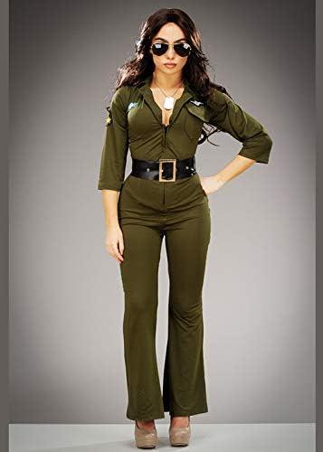 Magic Box Disfraz de Mono Verde para Mujer de Top Gun Small (UK 8 ...