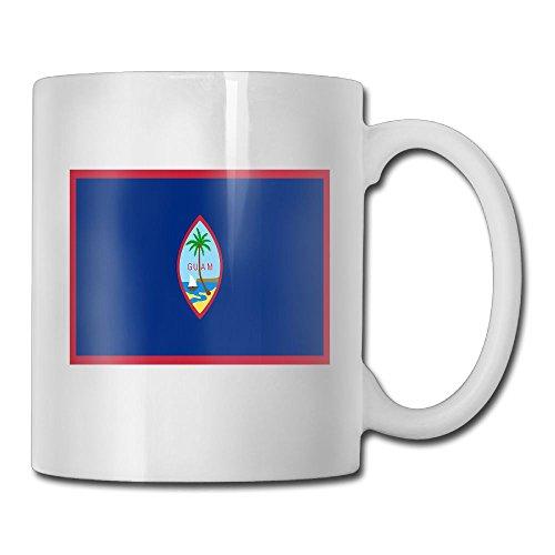 Fengyaojianzhu Flag Of Guam Mugs Cool Ceramic Coffee Tea Cups Double-side Printing - Canada Usps To Express Shipping