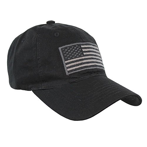 Pit Bull US Flag Patch Tactical Style Cotton Trucker Baseball Cap Hat Black ()