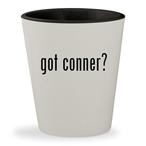 got conner? - White Outer & Black Inner Ceramic 1.5oz Shot - Thomas Browne Glasses
